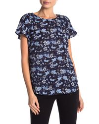 Cece by Cynthia Steffe - Ivy Floral Short Sleeve Blouse - Lyst
