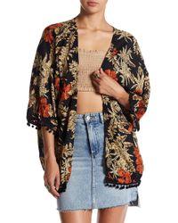 Raga - Island Fever Pompom Kimono - Lyst