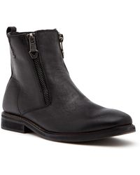 Guess - Jears Zip Leather Boot - Lyst