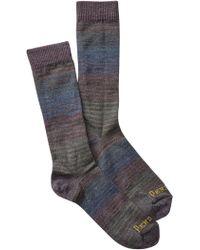 Pendleton - Yakima Camp Stripe Wool Blend Crew Socks - Lyst