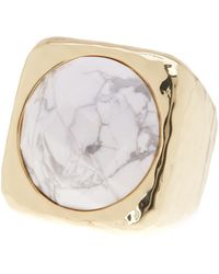 Ariella Collection | Square Stone Ring - Size 7 | Lyst