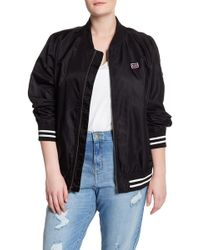 Levi's - Nylon Athletic Striped Bomber Jacket (plus Size) - Lyst