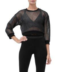 GOOD AMERICAN - Branded Mesh Pullover Sweatshirt (regular & Plus Size) - Lyst