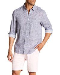 Benson - Floral Print Linen Modern Fit Shirt - Lyst