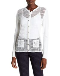 Tommy Hilfiger | Embroidered Button Up Cardigan | Lyst