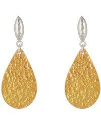 Gurhan - Two-tone Pear Flake Earrings - Lyst