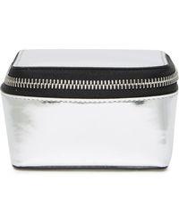 Theory - Small Metallic Leather Storage Box - Lyst