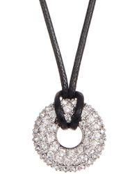 Swarovski - Swaorvski Crystal Accented Wrapped Hoop Pendant Necklace - Lyst