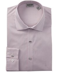 Kenneth Cole Reaction - Slim Fit Broadcloth Dress Shirt - Lyst
