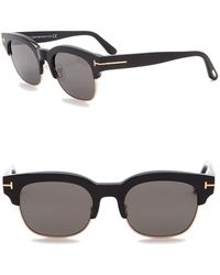 81c838fbb80 Tom Ford - Harry 51mm Clubmaster Sunglasses - Lyst
