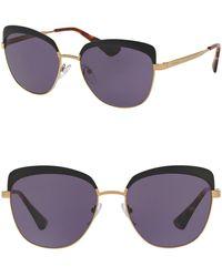 Prada - Catwalk 56mm Rounded Cat Eye Sunglasses - Lyst
