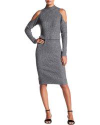 Fate - Cold Shoulder Mock Neck Dress - Lyst
