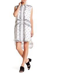 Kendall + Kylie - Sleeveless Bandana Silk Dress - Lyst