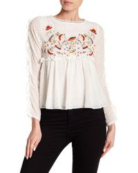 Haute Rogue - Embroidered Clip Dot Top - Lyst