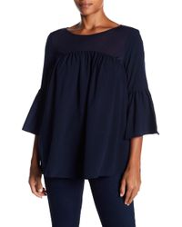 French Connection - Polly Plains 3/4 Sleeve Blouse - Lyst