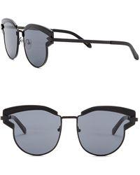 f94969eb545e Lyst - Karen Walker Superstars Feli 57mm Cat Eye Sunglasses in Metallic