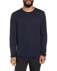 Calibrate - Texture Stripe Long Sleeve T-shirt - Lyst
