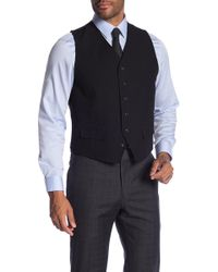 Ben Sherman - Solid Front Button Vest - Lyst