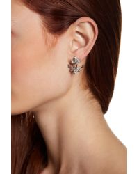 Jenny Packham - Marquise & Pear-cut Glass Crystal Front & Back Earrings - Lyst