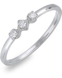 Bony Levy - 18k White Gold Three Diamond Ring - 0.08 Ctw - Lyst