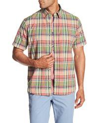 Tailor Vintage - Madras Short Sleeve Plaid Shirt - Lyst