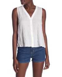 Rag & Bone - Imogen Button Tank Top - Lyst
