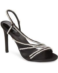 54e979a4865f78 Lyst - Jeffrey Campbell Lilian Asymmetrical Strappy Sandal in Metallic