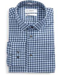 Calibrate - Trim Fit Check Dress Shirt - Lyst