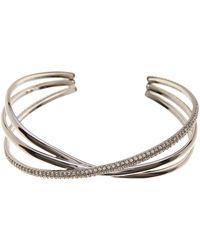 Nadri - Trinity Pave Cz Crossover Cuff Bracelet - Lyst