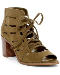 Vince Camuto - Tressa Perforated Leather Block Heel Sandal - Lyst