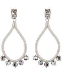 Oscar de la Renta - Wrapped Open Teardrop Swarovski Crystal Embellished Clip On Earrings - Lyst