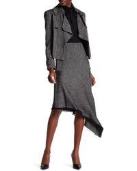 Anne Klein - Asymmetrical Twill Skirt - Lyst