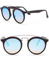 Ray-Ban - 49mm Phantos Aviator Sunglasses - Lyst