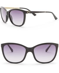 Guess - 58mm Rounded Cat Eye Sunglasses - Lyst