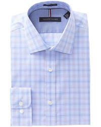 Tommy Hilfiger - Plaid Slim Fit Dress Shirt - Lyst