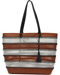 Urban Expressions - Perforated Vegan Leather Tote - Lyst
