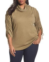 Sejour - Drawstring Sleeve Tunic - Lyst