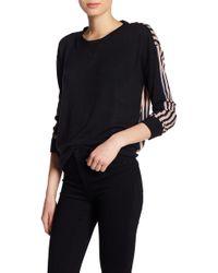William Rast - Tye Contrast Stripe Back Sweater - Lyst