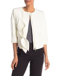 Ted Baker - Structured Bow Waist Jacket - Lyst
