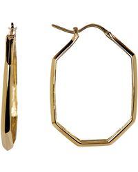 Bony Levy - 14k Gold Octagon Hoop Earrings - Lyst