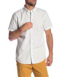 Ben Sherman - Short Sleeve Shadow Spot Print Shirt - Lyst