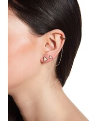 House of Harlow 1960 | Native Legend Triangle Stud Earrings Set With Single Cuff | Lyst