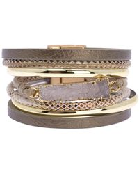 Saachi - Sweet Summer Druzy Stone Pendant Multi-strand Bracelet - Lyst