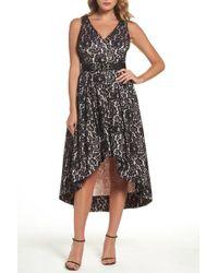 Eliza J - Belted Lace High/low Dress - Lyst