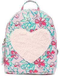 T-Shirt & Jeans - Floral Love Faux Fur Backpack - Lyst