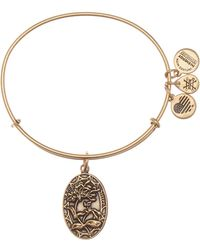 ALEX AND ANI - Because I Love You Sister Ii Flower Charm Expandable Wire Bangle Bracelet - Lyst