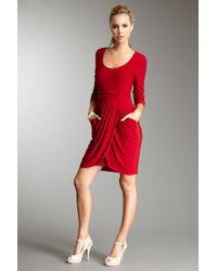 Decode 1.8 - Draped Jersey Dress - Lyst