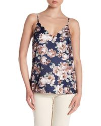 Skies Are Blue - Floral Satin Tank - Lyst