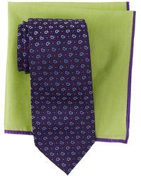 Ted Baker - Frame Pine Silk Tie & Pocket Square Set - Lyst