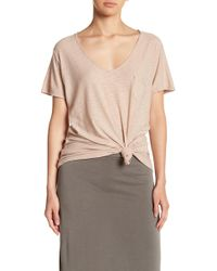 Michelle By Comune - V-neck Pocket Tee - Lyst